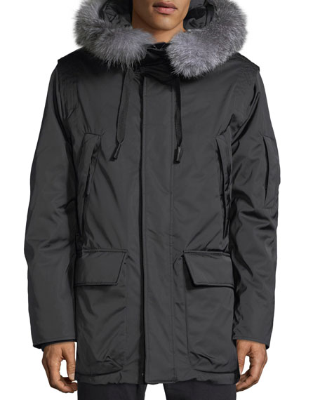 Explorer Waterproof Fur-Trimmed Parka Coat