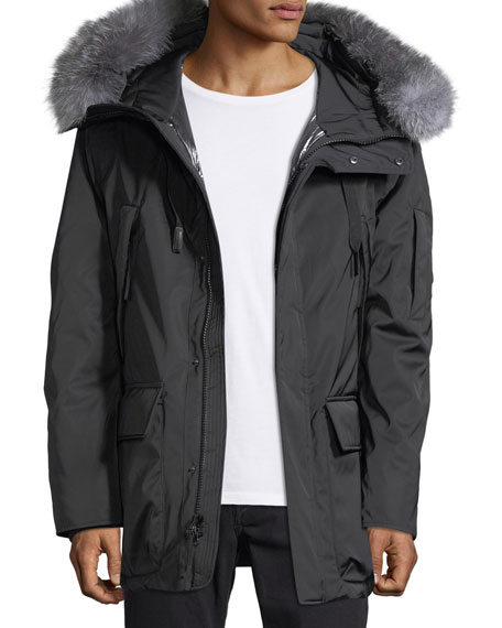 Andrew Marc Explorer Waterproof Fur-Trimmed Parka Coat