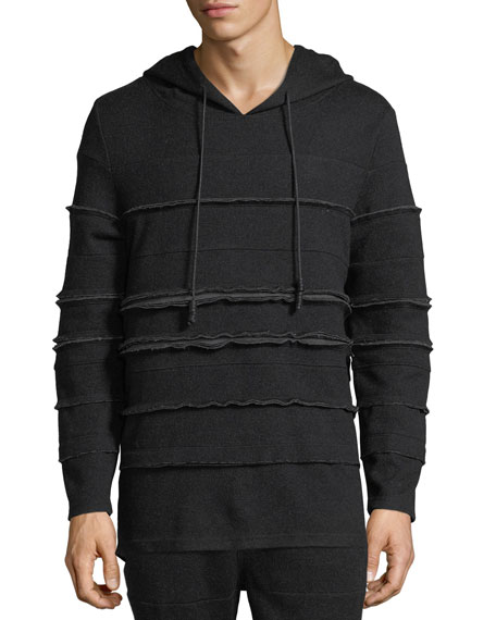 Private Stock Raw-Edge Paneled Hoodie