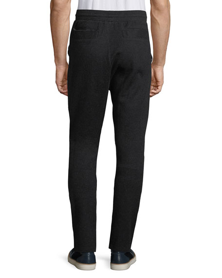 Raw-Edge Paneled Jogger Pants