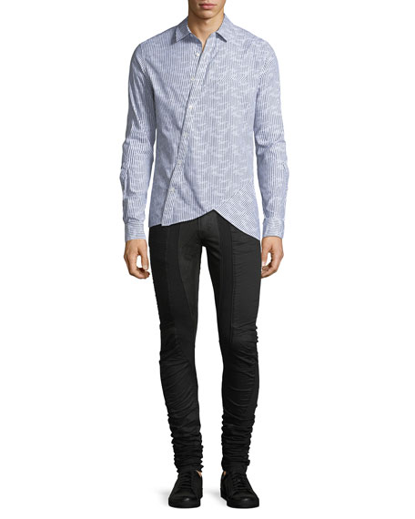 BLK SUPER LONG SKINNY JEAN