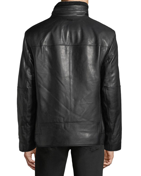 Trail Master Italian Lambskin Leather Jacket