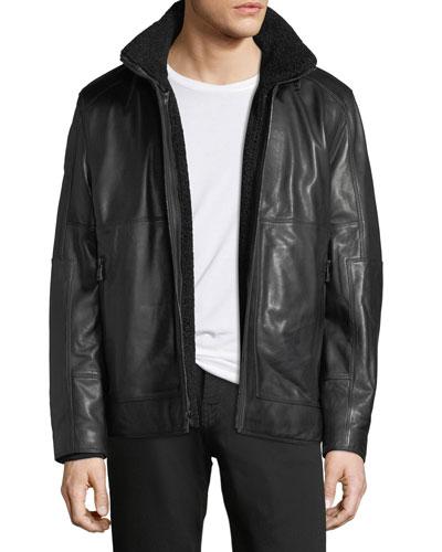 Trail Master Italian Lambskin Leather Jacket