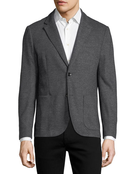 The Good Man Brand Honeycomb Melange Knit Blazer