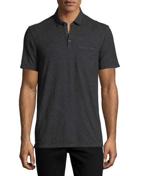 Cotton Slub Jersey Polo Shirt