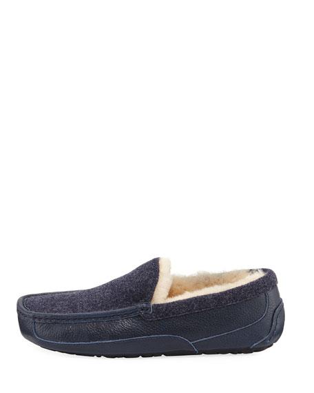 Ascot Leather & Wool Slipper