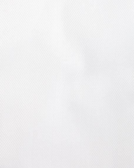 Herringbone French-Cuff Dress Shirt