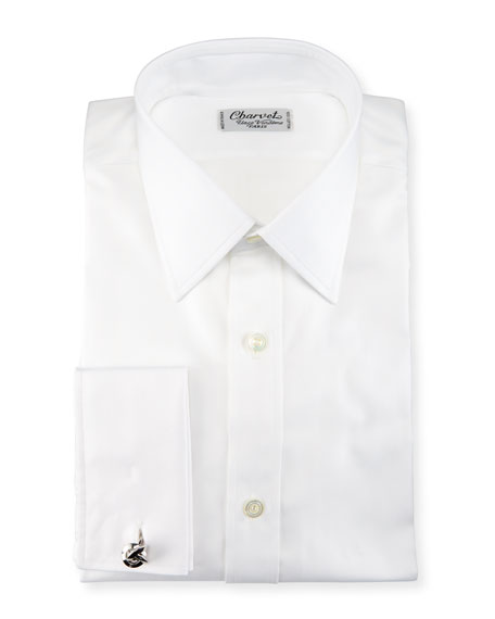 Charvet Herringbone French-Cuff Dress Shirt