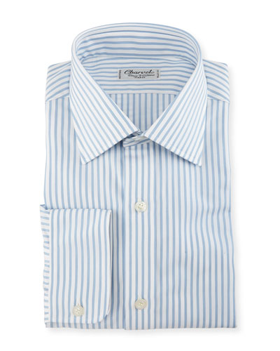 Texture-Striped Dress Shirt
