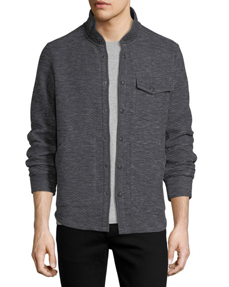 Twill Jacquard Knit Shirt Jacket