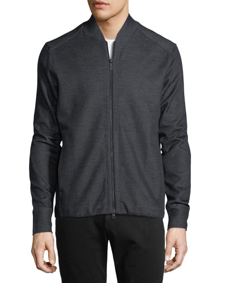 Modern Pique Knit Bomber Jacket