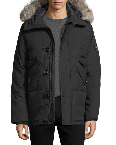 Canada Goose Travers Herringbone Down Jacket with Fur