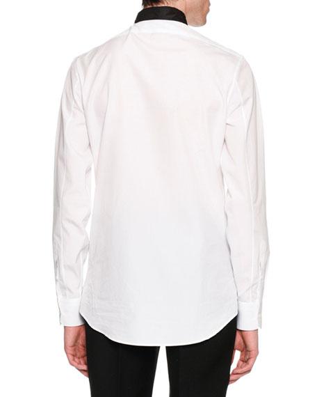 Tie-Collar Cotton Shirt
