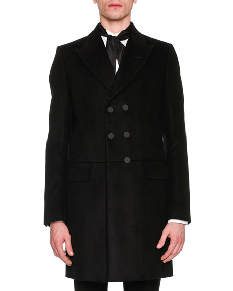 Alexander McQueen Fur-Trim Double-Breasted Coat