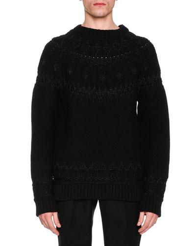 Reverse-Knit Fair Isle Sweater