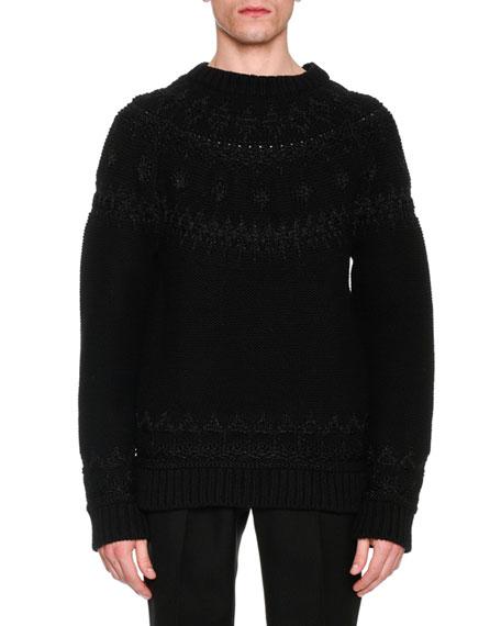 Alexander McQueen Reverse-Knit Fair Isle Sweater