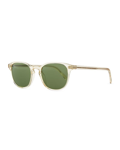 Fairmont Men's Acetate Sunglasses, Yellow