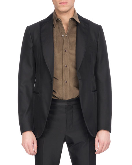 Berluti Wool-Silk Tuxedo Jacket