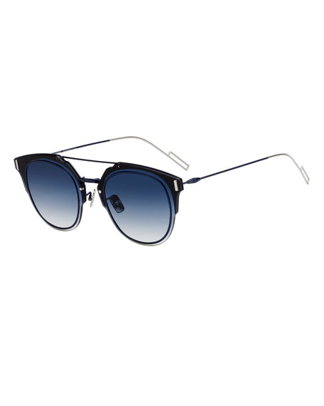 Dior Men's Round Universal-Fit Graphic Sunglasses