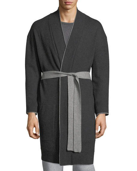Cashmere Patch-Pocket Robe