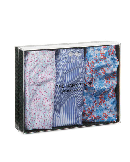 Three-Pack Multi-Pattern Boxer Set
