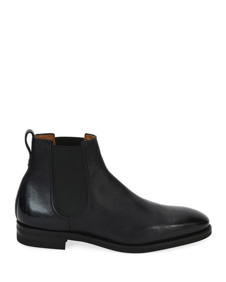 Scavone Deerskin Leather Chelsea Boot