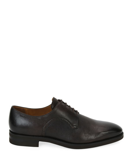 Scrivani Deerskin Leather Oxford Shoe