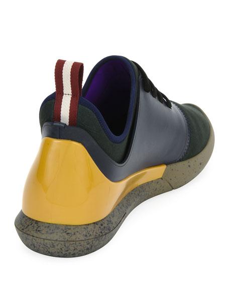 Men's Avro Leather & Neoprene Trainer Sneakers, Blue