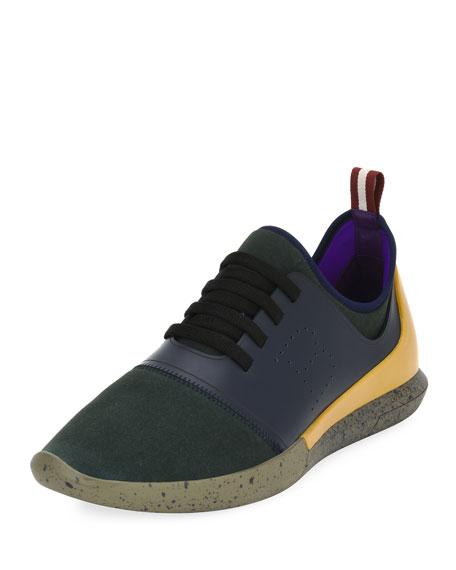 Bally Men's Avro Leather & Neoprene Trainer Sneakers,