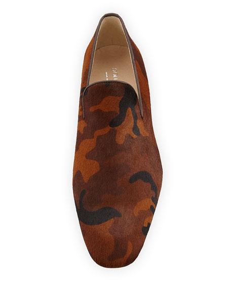 Men's Pazano Camo-Print Calf Hair Loafer