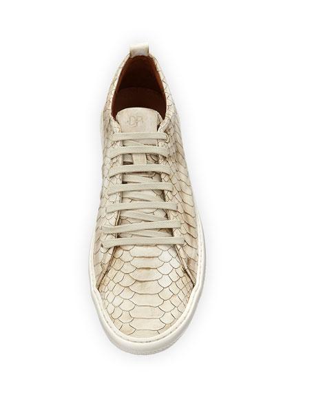 Rand Men's Croc-Embossed Leather Low-Top Sneaker