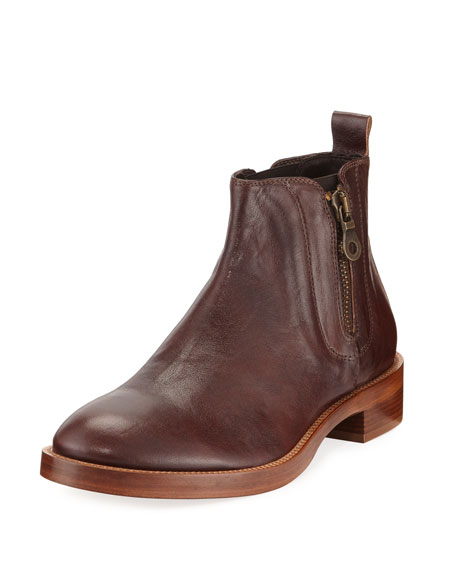 Men's Giraldo Side-Zip Leather Chelsea Boot