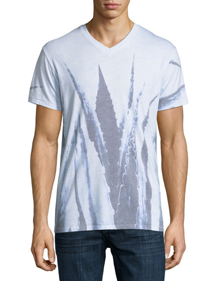 Sol Angeles Agave Leaves Printed V-Neck T-Shirt