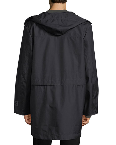 Reversible Long Canvas Jacket
