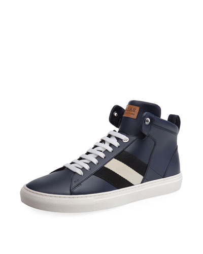 Hedern Trainspotting Stripe Mid-Top Sneaker, Blue