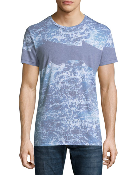 Sol angeles seafoam wave print t shirt neiman marcus for T shirt printing downtown los angeles