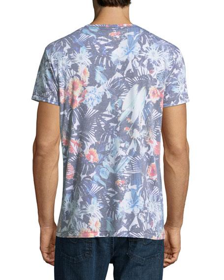 Tropical Flower Crewneck T-Shirt