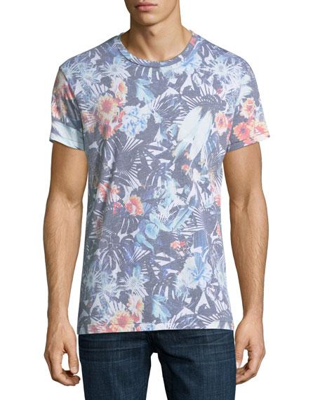 Sol Angeles Tropical Flower Crewneck T-Shirt