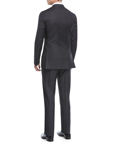 Two-Piece Tuxedo Suit, Charcoal