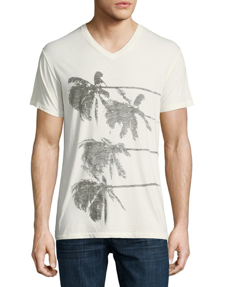 Lazy Palms Cotton V-Neck T-Shirt