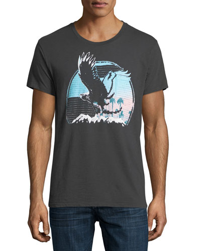Sunset Eagle Crewneck T-Shirt