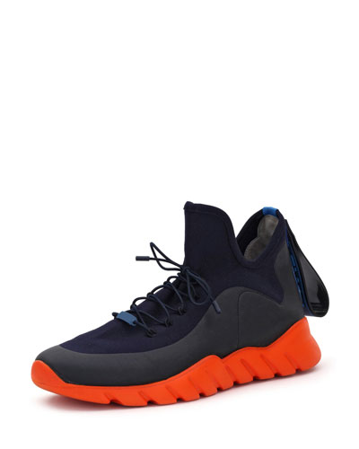 Runway High-Top Scuba Sneaker