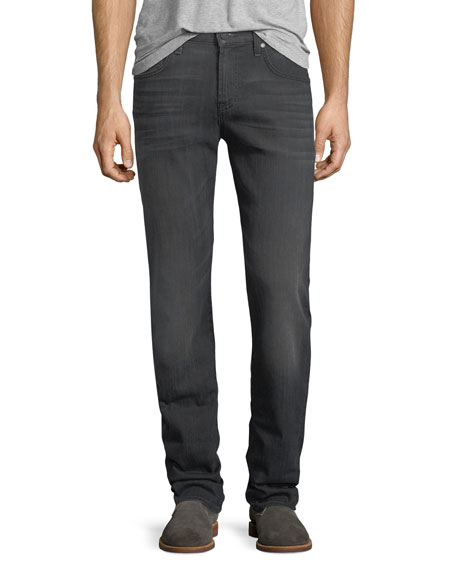7 For All Mankind Straight-Leg Airweft Denim Jeans,