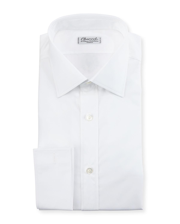 Charvet Poplin French Cuff Dress Shirt White Neiman Marcus