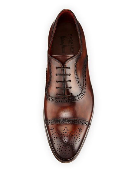 Two-Tone Lace-Up Dress Shoe