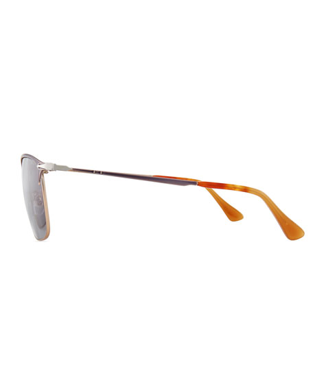 PO7359S Polarized Rectangular Sunglasses