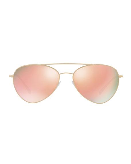 Linea Rossa Men's Spectrum Pilot Sunglasses, Gold