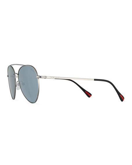 Linea Rossa Men's Spectrum Pilot Sunglasses, Gray