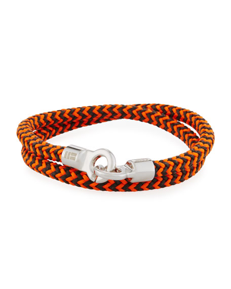 Brace Humanity Men's Double Tour Braided Wrap Bracelet,