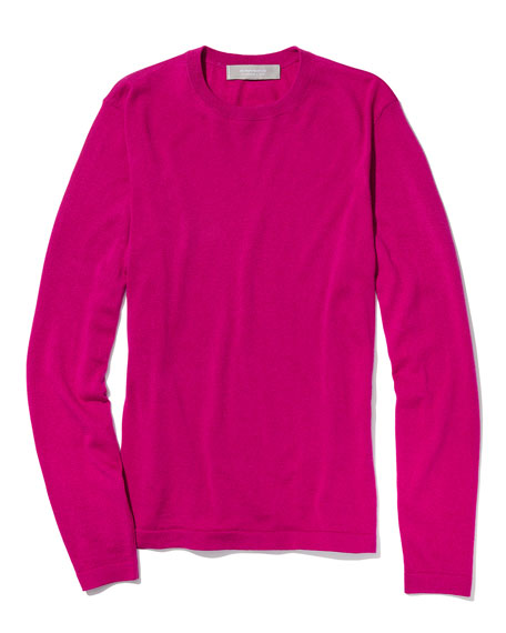Cashmere-Silk Crewneck Sweater